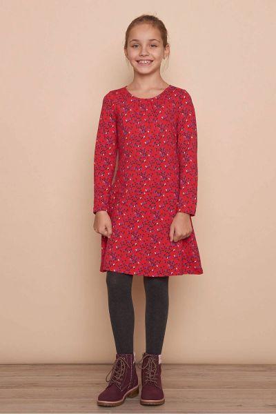 Kinder Jersey-Kleid TRINA (GOTS) - red kite