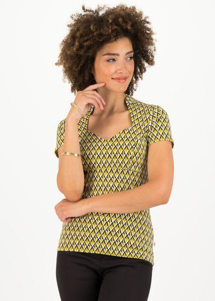 pow wow heart shirt - tiki gold