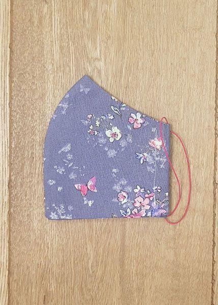 130530 Mund-Shirt leicht - Blumen lila