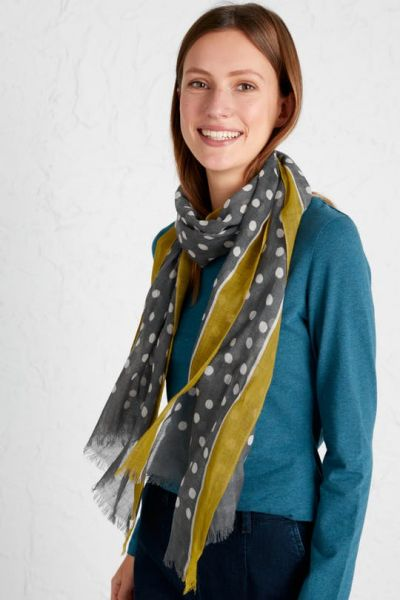 Pretty Printed Scarf Chalked Spot Nickel