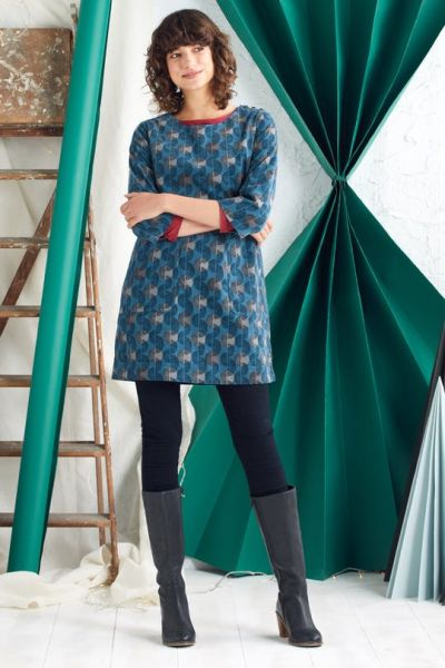 Port Gaverne Tunic - Linear Crescent Starling