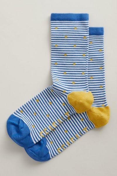 Women's Sailor Socks - Cornish Stone Sapphire