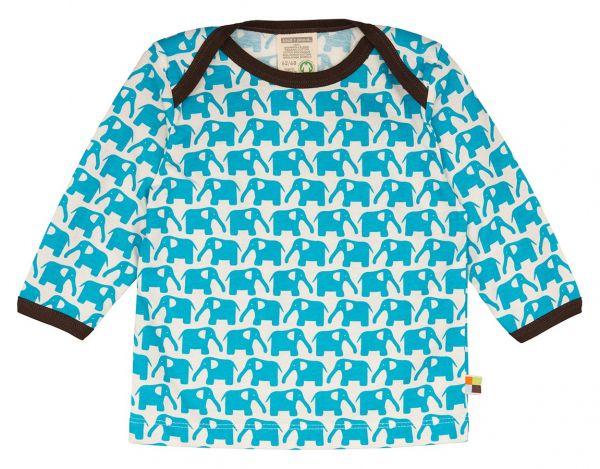 Shirt Langarm - Aqua Elefant