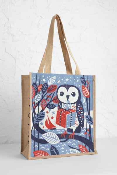 Jute Shopper Gift Owl