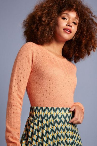 Yoke Top Fluffy - Reef Coral