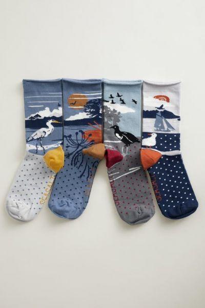 Postcard Socks Box O'4 - Chevron Flight Mix