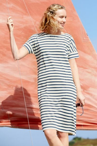 Sailor Dress Breton Ecru Harbour