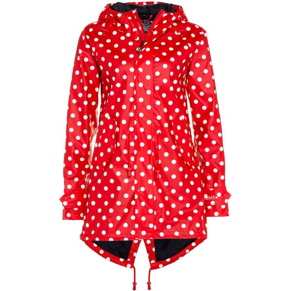 HafenCity Coat SoftSkin Mantel rot weiße Punkte
