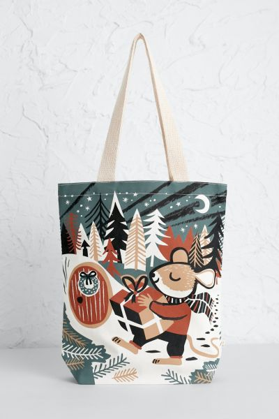 Canvas Shopper Christmas Mouse