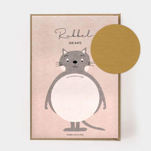 Rubbel die Katz - Rubbelkarte