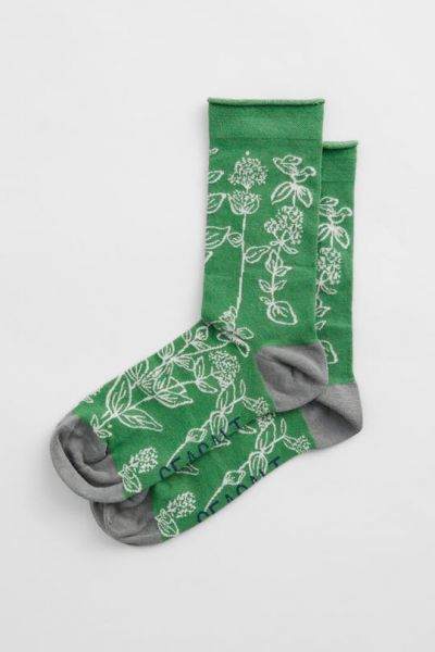 Womens Bamboo Arty Socks - Valerian Hedgerow