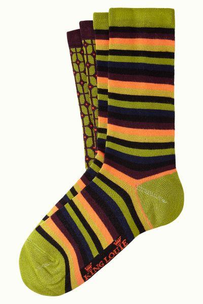 Socks 2-Pack Fudge - Woodbine Green