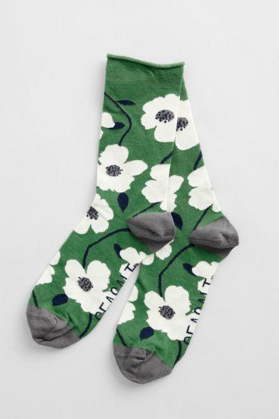Women's Bamboo Arty Socks - Wild Mallow Hedgerow