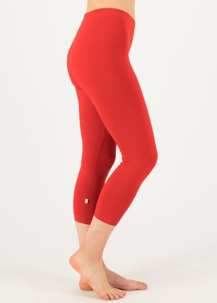 logo 3/4 leggings - strong red