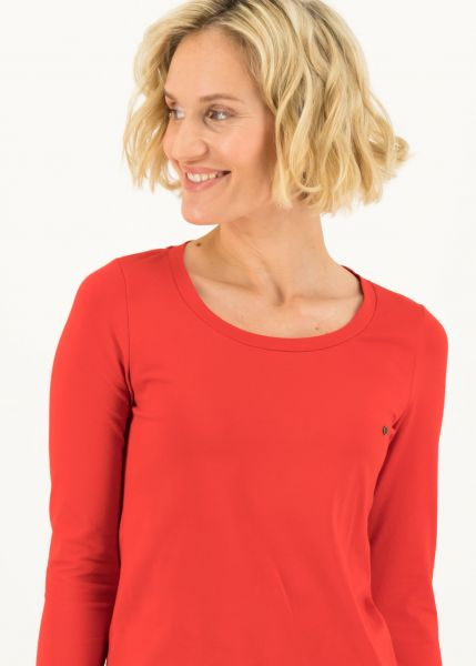 logo round neck langarm welle - just me in red