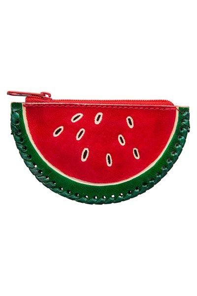 Ledergeldbörse - Melone