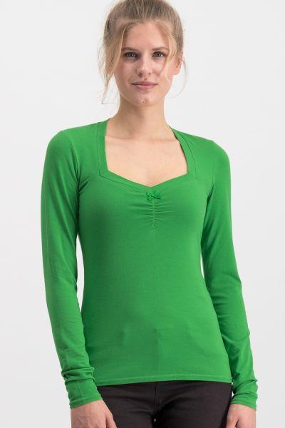 logo heart longsleeve - back to green