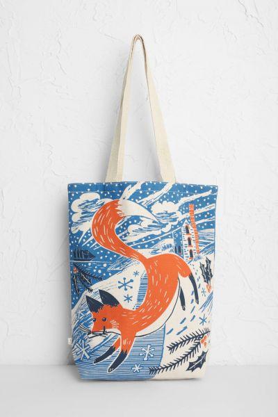 Canvas Shopper - Fox In The Snow