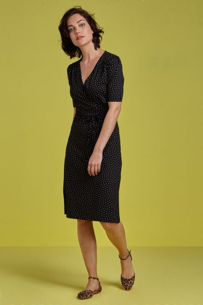Cecil Dress Little Dots - black
