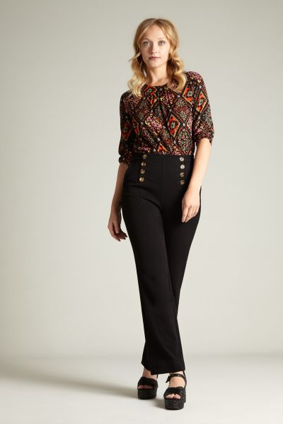 Lara Sailor Pants Broadway - Black