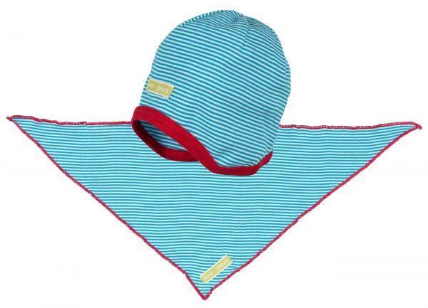 Mütze+Tuch - Aqua