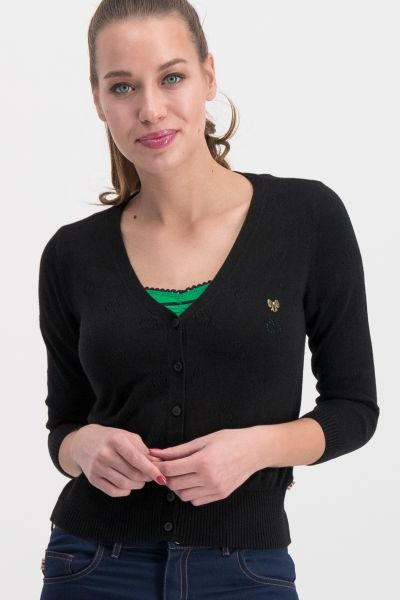 sweet petite cardy - black apple