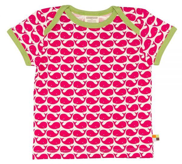 T-Shirt Kurzarm Wal - Rosenrot