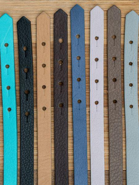Armband mit Slider-Perlen braun Anker /Polka dots