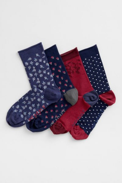 Womens Arty Socks Box Of 4-Oxlip Mix