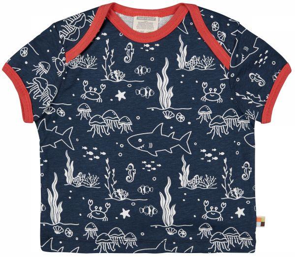 T-Shirt Druck - Ultramarin Meer