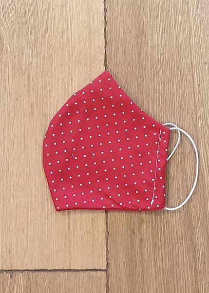 130506 Mund-Shirt leicht - rot, weiße Pünktchen