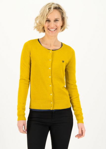 save the brave cardy - suited in yellow