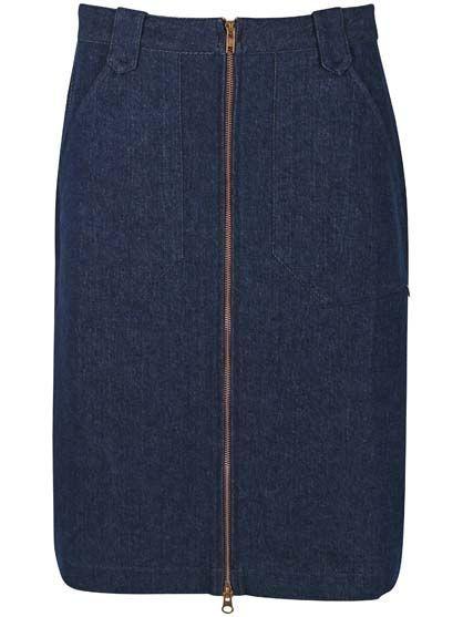 Madelaine Cord Skirt - Denim