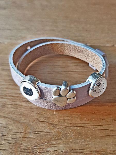Armband mit Slider-Perle Katzen