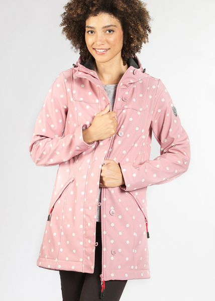 wild weather long anorak - marilyns dots