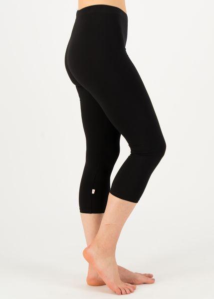 logo 3/4 leggings - basic black