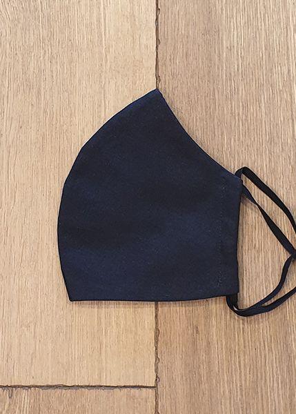 130507 Mund-Shirt leicht - schwarz