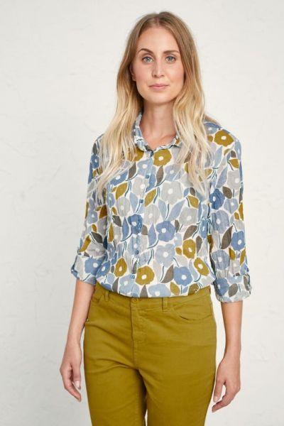 Larissa Shirt Chalked Blooms Wild Pansy
