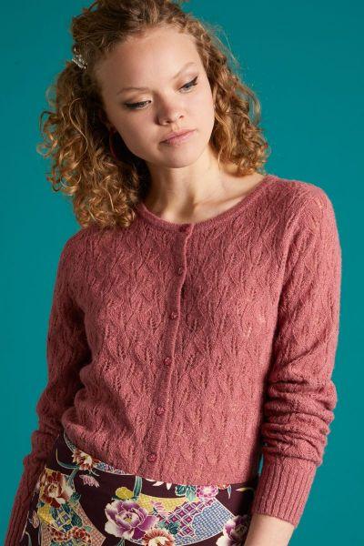 Cardi Roundneck Vallina - Velvet Pink