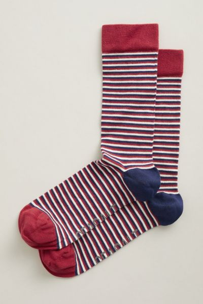 Men's Everyday Socks - Ladder Dark Tomato
