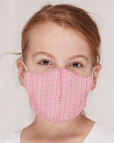 Mund- und Nasenmasken GOTS für Kinder / Erwachsene Rauten Azalea