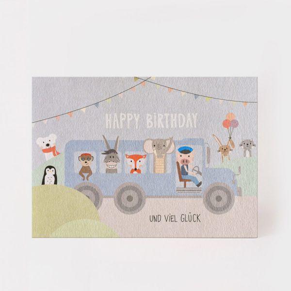 Happy Birthday - Tiere im Bus