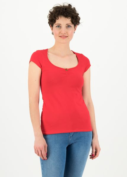 logo shortsleeve feminine - simply red