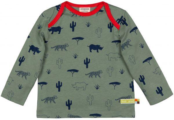 Shirt, Druck - Olive