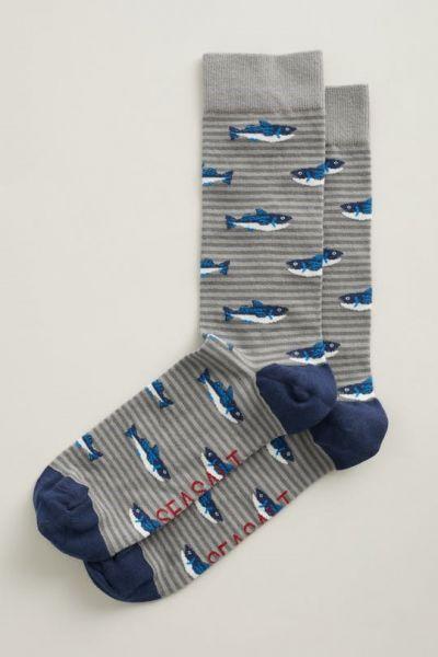 Men's Arty Socks - St. Ives Catch Coal