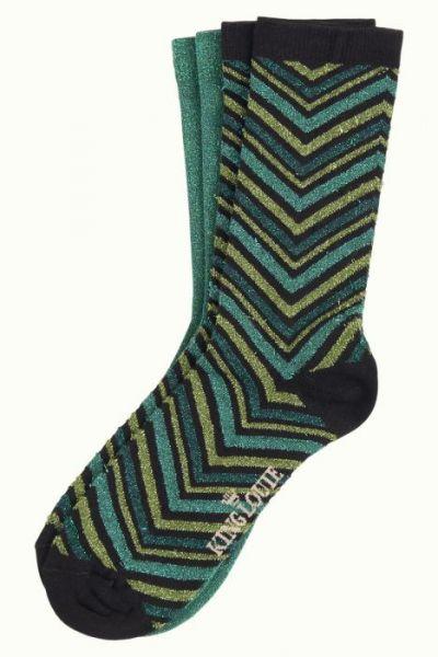 Socks 2-Pack Indra - Olive Green