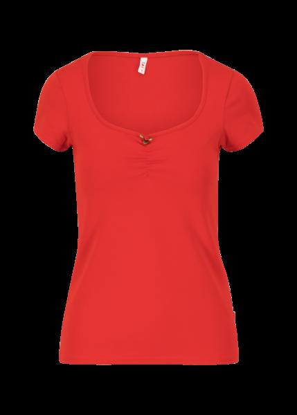 logo shortsleeve feminin - strong red