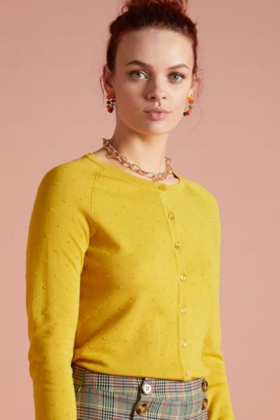 Cardi Raglan Roundneck Droplet - Neutral Yellow