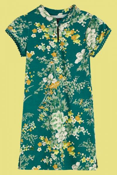 Chinese Dress Makura - Para Green