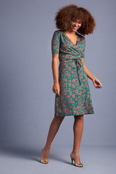 Cecil Dress Touche - Para Green